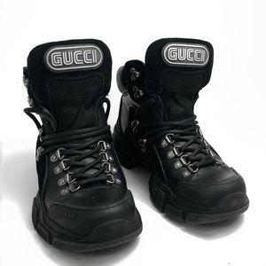 Gucci Flashtrek Leather Combat Boots